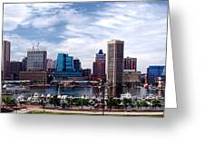 Baltimore Skyline - Generic Greeting Card by Olivier Le Queinec