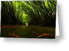 Bamboo Cathedral Greeting Card by Dexter Browne