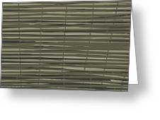 Bamboo Fence - Gray And Beige Greeting Card by Saya Studios