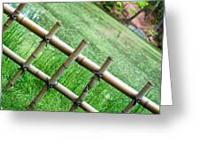 Bamboo Fence Greeting Card by Brett Price
