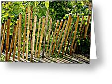 Bamboo Fencing Greeting Card by Lilliana Mendez
