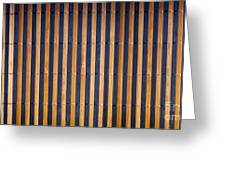 Bamboo Mat Texture Greeting Card by Tim Hester