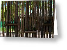Bamboo View Greeting Card by Nomad Art And  Design