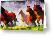 Band Of Horses Tnm Greeting Card by Vincent DiNovici
