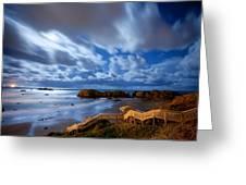 Bandon Nightlife Greeting Card by Darren  White
