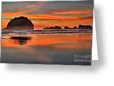 Bandon Orange Pastels Greeting Card by Adam Jewell