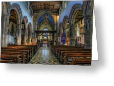 Bangor Cathedral V2 Greeting Card by Ian Mitchell