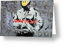 Banksy  Greeting Card by A Rey