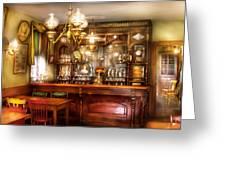 Bar - Bar And Tavern Greeting Card by Mike Savad