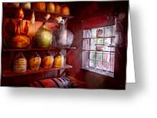 Bar - Bottles - Check Out These Big Jugs Greeting Card by Mike Savad