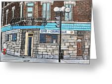 Bar De Courcelle St-henri Greeting Card by Reb Frost