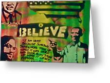 Barack And Martin And Malcolm Greeting Card by Tony B Conscious