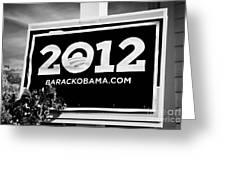 Barack Obama 2012 Us Presidential Election Poster Florida Usa Greeting Card by Joe Fox