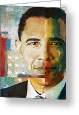 Barack Obama Greeting Card by Corporate Art Task Force