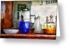 Barber - Blueberry flavored thanks for asking Greeting Card by Mike Savad