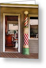 Barber - I Need A Hair Cut Greeting Card by Mike Savad