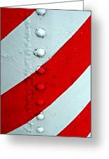 Barber Pole Greeting Card by Chris Berry