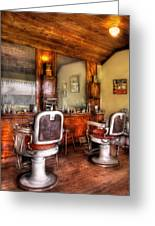 Barber - The Barber Shop II Greeting Card by Mike Savad