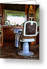 Barber - The Barber Shop Greeting Card by Paul Ward