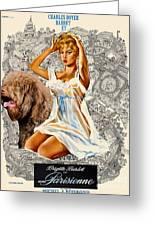 Barbet Art - Una Parisienne Movie Poster Greeting Card by Sandra Sij