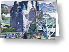Barcaldine Castle Greeting Card by Francis Campbell Boileau Cadell