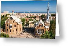 Barcelona Park Guell Antoni Gaudi Greeting Card by Matthias Hauser