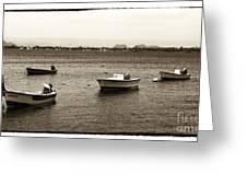 Barcos Greeting Card by John Rizzuto