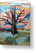 Bare Branches At Dusk Greeting Card by Charlene White