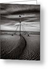 Barkby Beach 2 Greeting Card by Dave Bowman