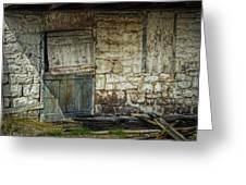 Barn Door Greeting Card by Joan Carroll
