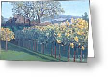 Barn Facade In Vineyard Greeting Card by Donna Schaffer