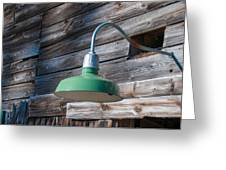 Barn Light Greeting Card by Guy Whiteley