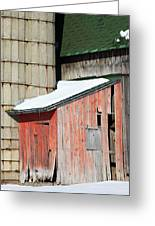Barn Parts 12 Greeting Card by Mary Bedy