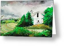 Barn Storm Greeting Card by Scott Nelson