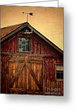 Barn With Weathervane Greeting Card by Jill Battaglia