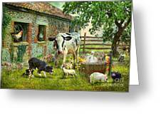 Barnyard Chatter Greeting Card by Trudi Simmonds