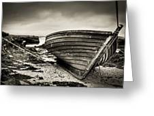 Barra Island Harbour Greeting Card by Ray Devlin
