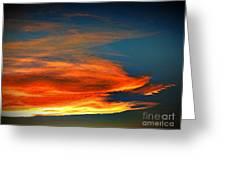Barracuda Cloud Greeting Card by Phyllis Kaltenbach