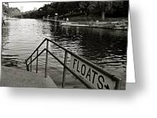 Barton Springs Pool In Austin Greeting Card by Kristina Deane