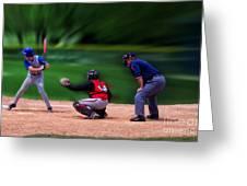 Baseball Batter Up Greeting Card by Thomas Woolworth