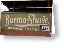 Baseball Field Burma Shave Sign Greeting Card by Frank Romeo