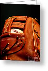 Baseball Glove With Ball Greeting Card by Danny Hooks