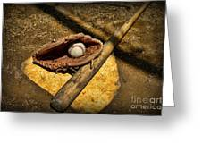 Baseball Home Plate Greeting Card by Paul Ward