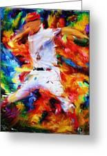 Baseball  I Greeting Card by Lourry Legarde