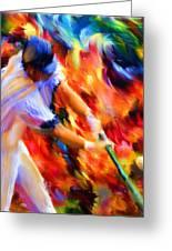 Baseball IIi Greeting Card by Lourry Legarde