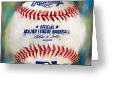 Baseball Iv Greeting Card by Lourry Legarde