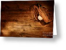 Baseball Greeting Card by Olivier Le Queinec