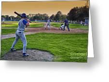 Baseball On Deck Circle Greeting Card by Thomas Woolworth