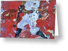 Baseball Painting Greeting Card by Robert Joyner
