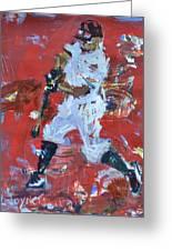 Baseball Painting Greeting Card by Robert Joyner